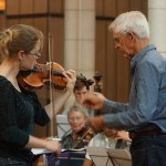 Rehearsing with St Matthews Chamber Orchestra.